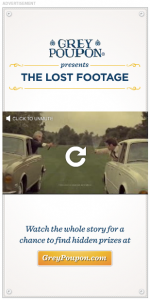 Grey Poupon Video Banner Ad