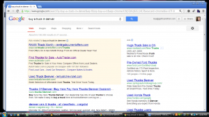 Google Adwords Truck Example