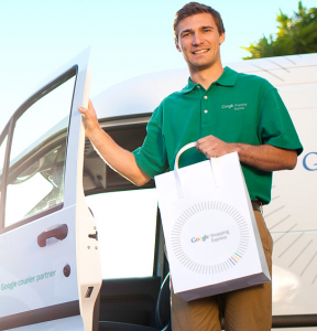 Google Shopping Express Happy Delivery Man