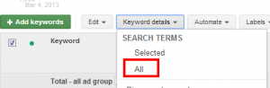 adwords search term report
