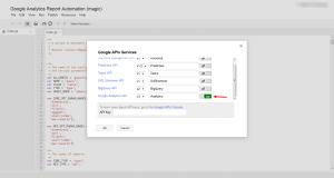Google Analytics API On